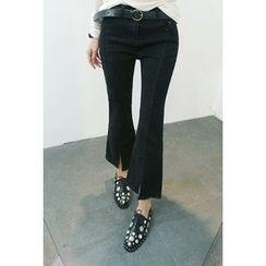 ATTYSTORY - Seam-Detail Slit-Front Pants