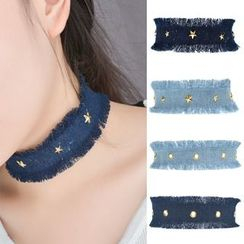 Seirios - Studded Denim Choker
