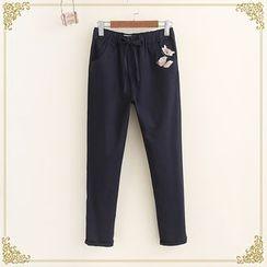Fairyland - Embroidered Drawstring Pants