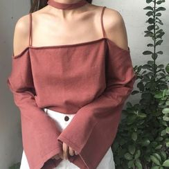 QZ Lady - Off Shoulder Long-Sleeve T-Shirt