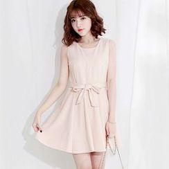 Tokyo Fashion - Tie-Waist Sleeveless Dress