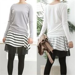 GLAM12 - Colored Long-Sleeve T-Shirt