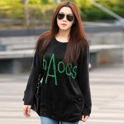 SO Central - Long-Sleeve Lettering Fleece Top