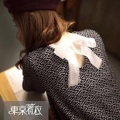 Tokyo Fashion - Long-Sleeve Tie-Back Printed Top