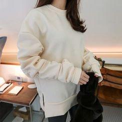 PPGIRL - Round-Neck Slit-Side Pullover