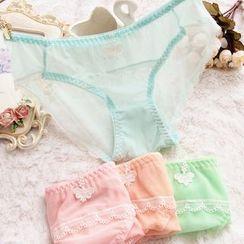 Cutesy Dream - Mesh Trim Panties