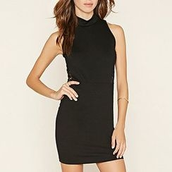 Richcoco - Lace Panel Sleeveless Dress