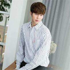 STYLEMAN - Long-Sleeve Stripe Shirt