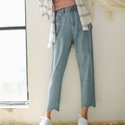 Mango Home - Cropped Wide Leg Jeans