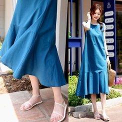 DEEPNY - Sleeveless Ruffle-Hem Long Dress