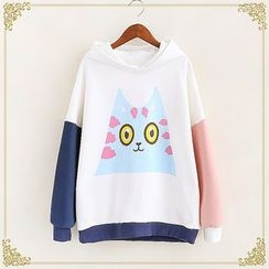 Fairyland - Color Block Print Sweatshirt