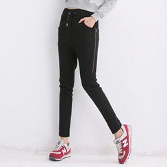 Lina - Drawstring Slim-Fit Pants