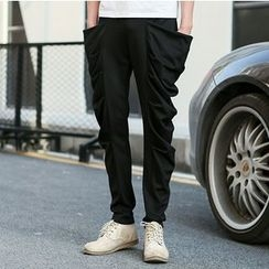 Bay Go Mall - Draped Slim Fit Pants