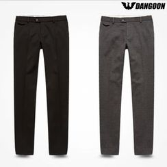 DANGOON - Faux-Fur Lined Tapered Dress Pants