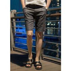GERIO - Linen Blend Shorts
