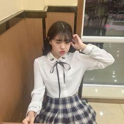 气质淑女 - 蝴蝶结领衬衫
