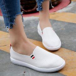 Moonlit Valley - Perforated Slip-On Sneakers