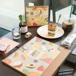 BABOSARANG - 2017 'TROPICAL FRUIT' Desk Calendar (L)
