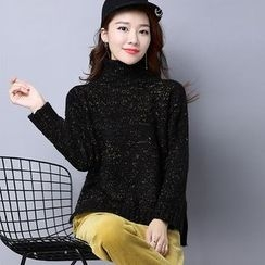 AiSun - Turtleneck Melange Knit Top