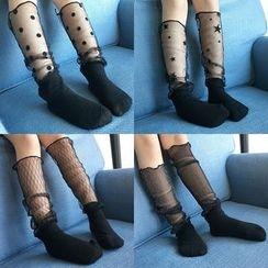 Milmerta - Kids Pattern Mesh Mid-Calf Socks
