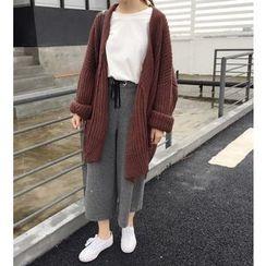 Eva Fashion - Plain Long Cardigan