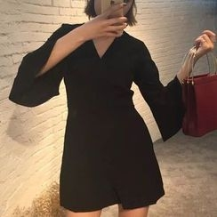 MATO - Bell-Sleeve Wrapped Playsuit