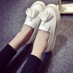 Charming Kicks - 厚底吊苏轻便鞋