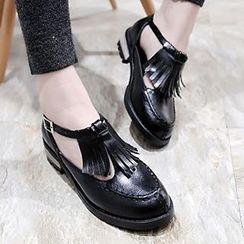 Sidewalk - 流蘇尖頭平跟鞋