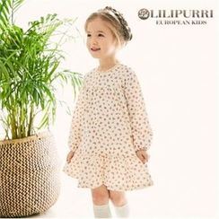 LILIPURRI - Girls Ruffle-Hem Floral Dress