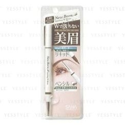 SANA 珊娜 - New Born Lasting W Eyebrow (Liquid and Pencil) (Light Brown 1)