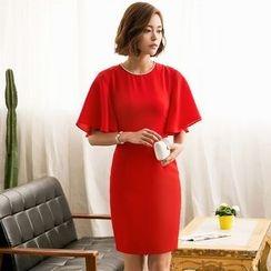 Eleganza - Short-Sleeve Sheath Dress