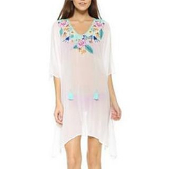 Champi - Embroidered Chiffon Cover-up