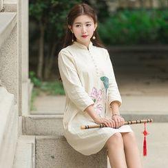 Ebbie - 碎花七分袖旗袍