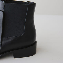 DAILY LOOK - Faux-Leather Ankle Boots