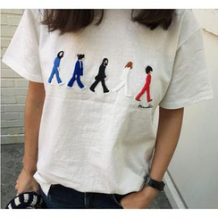 Kikiyo - Short-Sleeve Printed T-Shirt