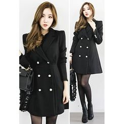 INSTYLEFIT - Double-Breasted A-Line Coat