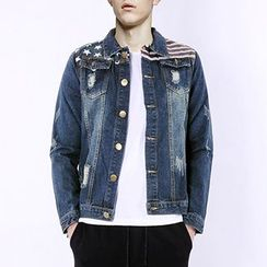 Evzen - Distressed Denim Jacket