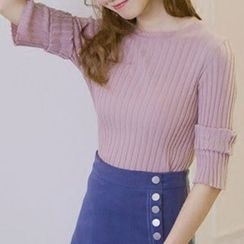 Honey House - Elbow-Sleeve Knit Pullover
