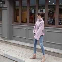 mimi&didi - Turtle-Neck Wool Blend Sweater