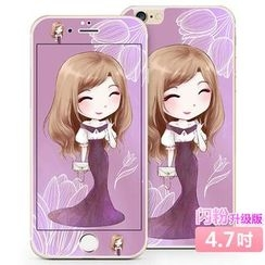 Kindtoy - 女孩印花 iPhone  6  /  6s  /  6  Plus  保护膜  (前后)