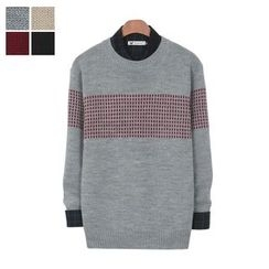 DANGOON - Crew-Neck Patterned Sweater