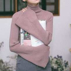 Cloud Nine - Bell Sleeve High Neck Sweater