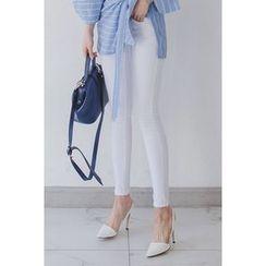 migunstyle - Flat-Front Skinny Pants