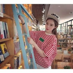 YOSH - Striped Short-Sleeve T-shirt