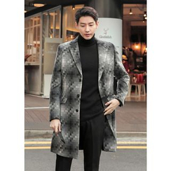 GERIO - Single-Breasted Patterned Coat