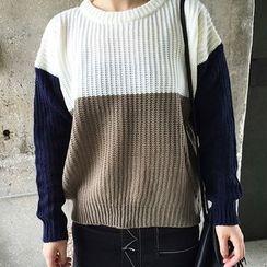 Dute - Color Block Sweater