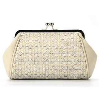 Ethel - Kiss-Lock Woven Clutch