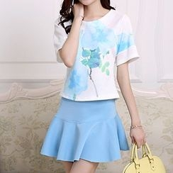 Swish - Set: Print T-Shirt + Miniskirt