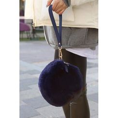 migunstyle - Faux-Fur Round Shoulder Bag