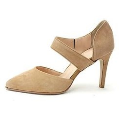 MODELSIS - Pointy-Toe Genuine Suede Pumps